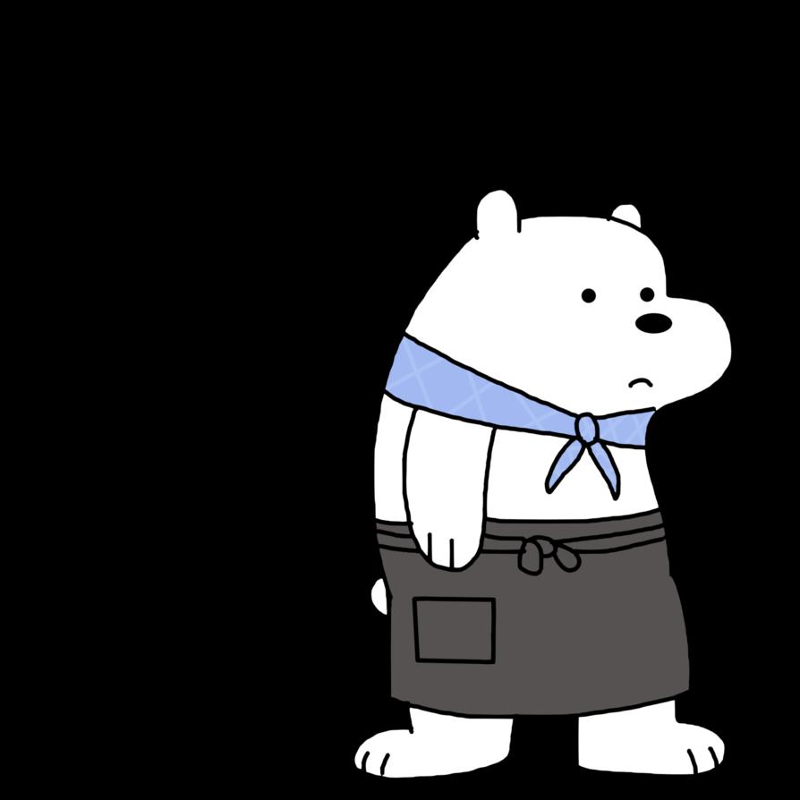 Ice clipart polar bear. As from shirokuma cafe
