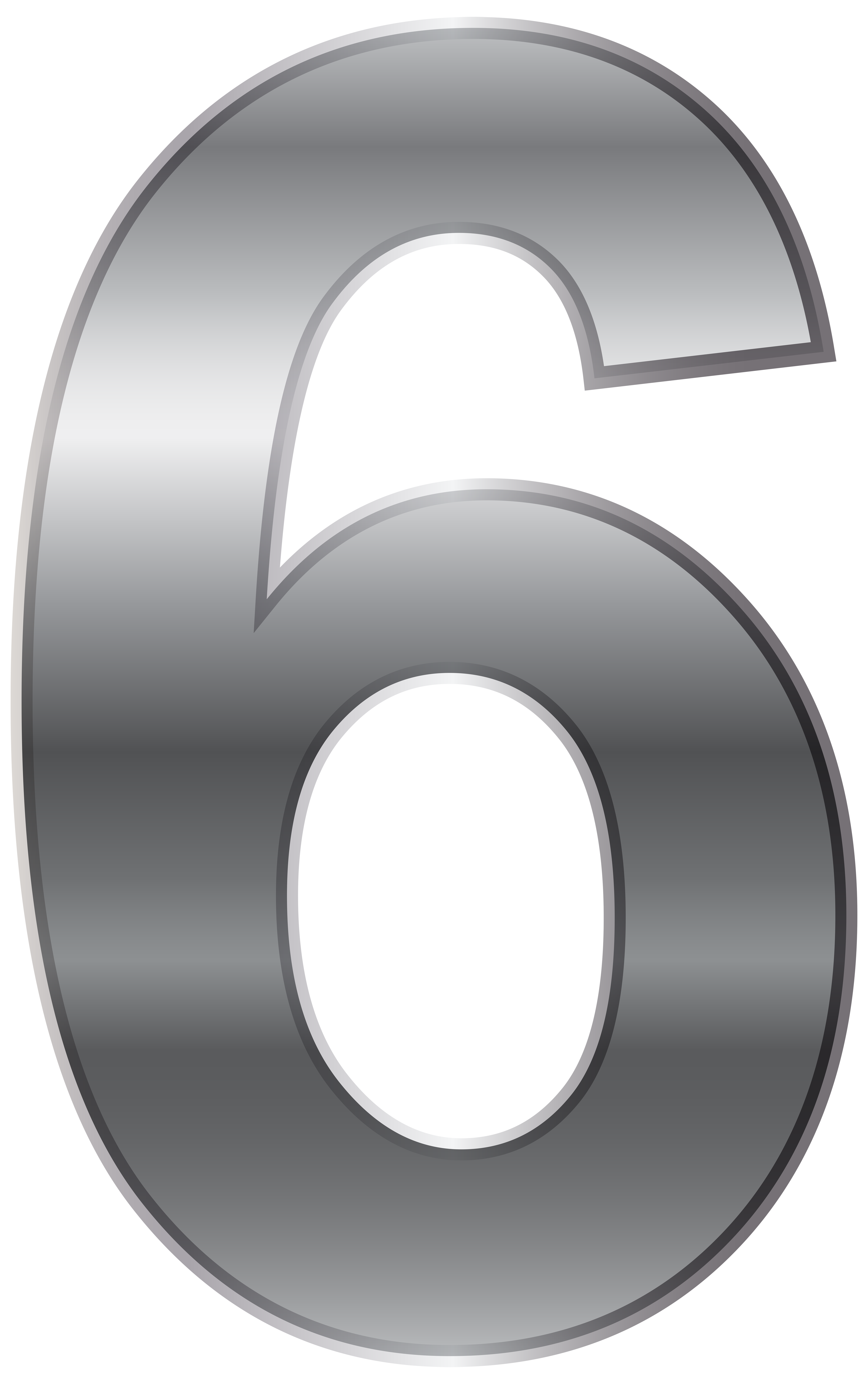 Silver number png transparent. Ice clipart six