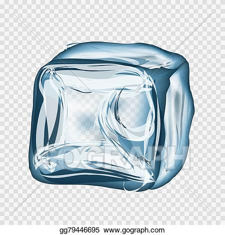 Ice clipart transparent background. Vector art cube in