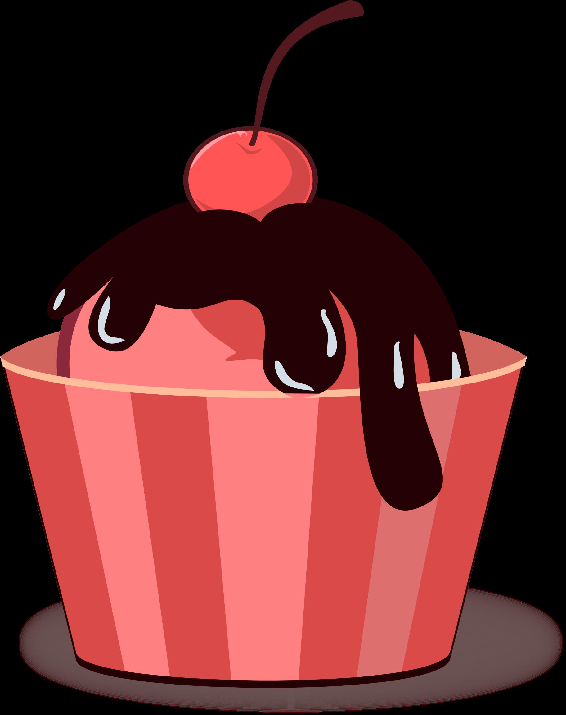 Vector ice cream big. Icecream clipart red
