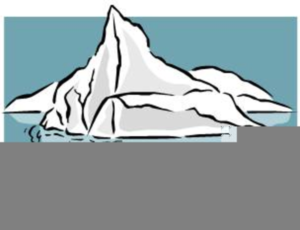 Black and white free. Iceberg clipart