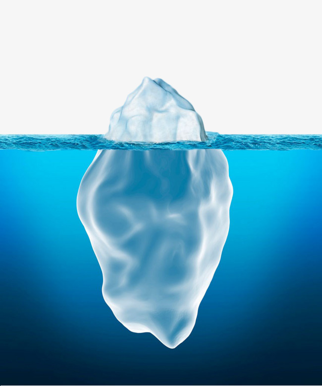 Iceberg clipart. Hand painted underwater the