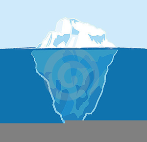 Tip of the free. Iceberg clipart