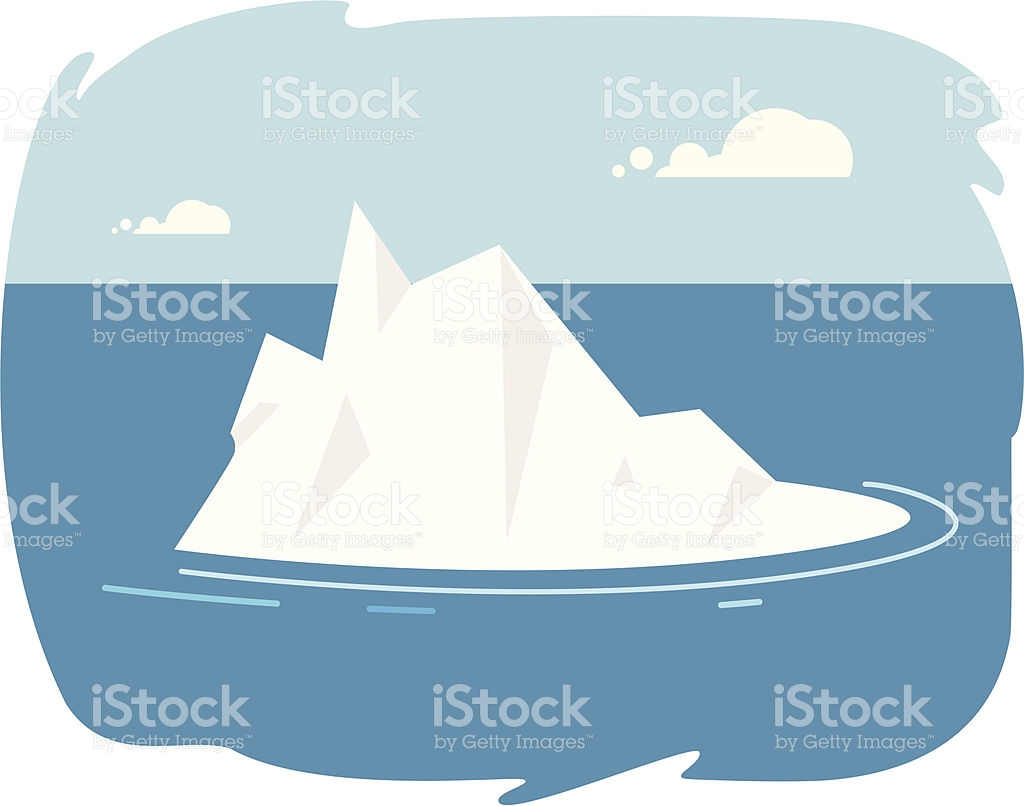 Cartoon penguins on ice. Iceberg clipart