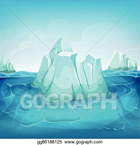 Clip art vector inside. Iceberg clipart deep