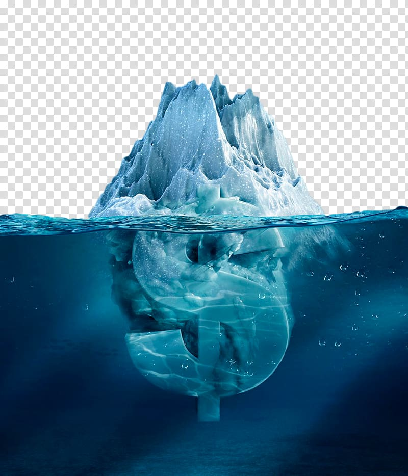 Creative currency symbol transparent. Iceberg clipart ice lake