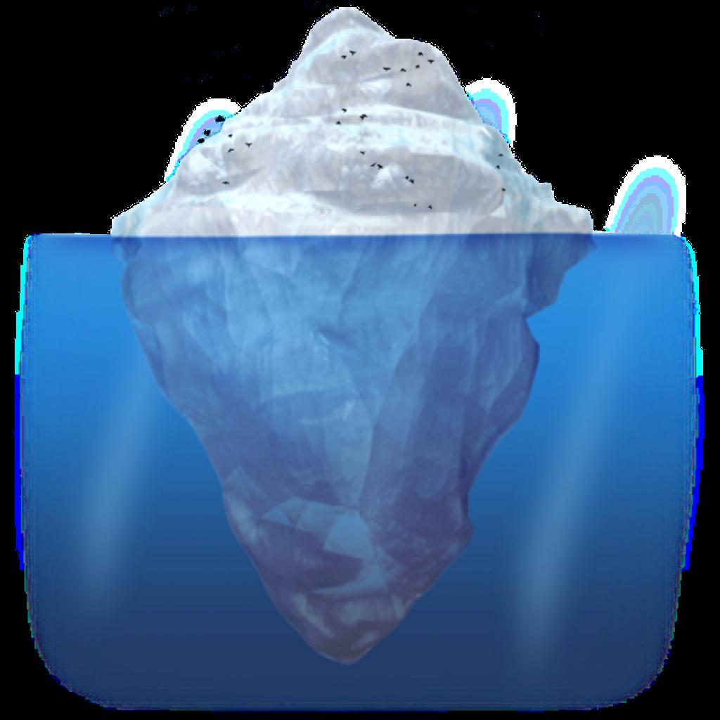 Iceberg clipart iceburg. Ftestickers oceanfreetoedit