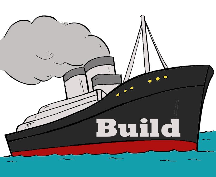Titanic at sea . Iceberg clipart immigrant ship