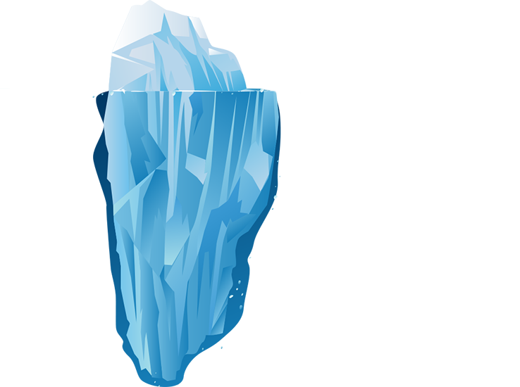 Iceberg clipart silhouette. At getdrawings com free