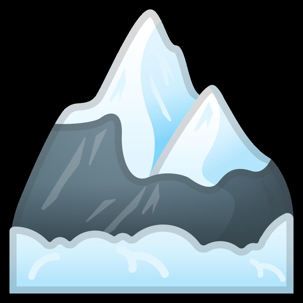 Glacier clipart big mountain. Snow capped icon noto