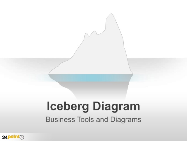 Editable for ppt . Iceberg clipart visual