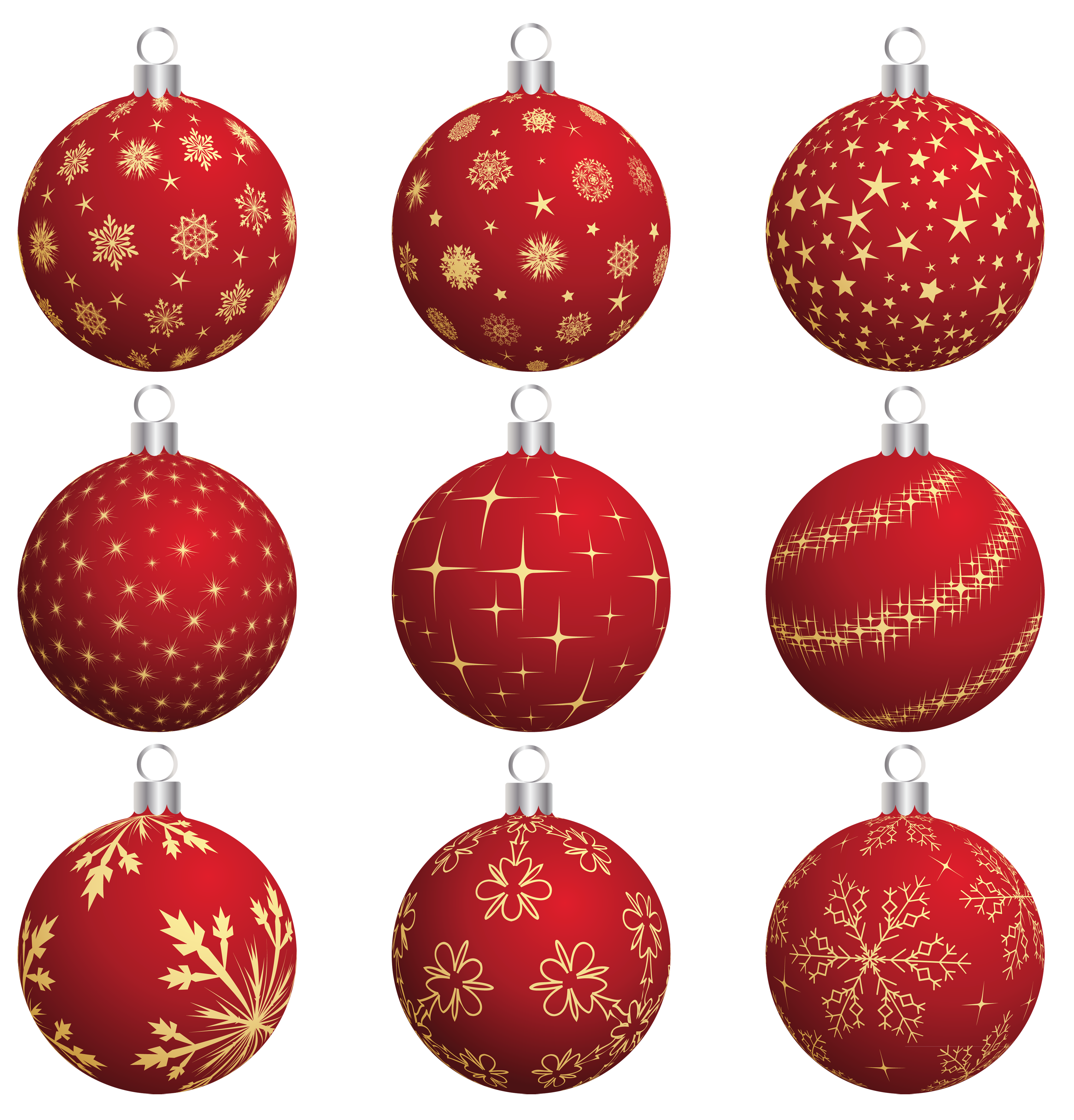Large transparent red balls. Lips clipart christmas