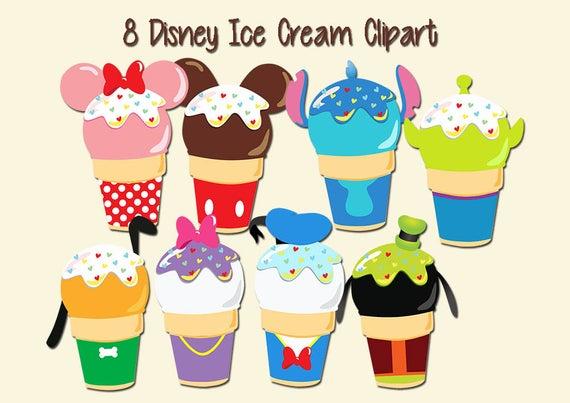 Disney ice cream high. Icecream clipart eight