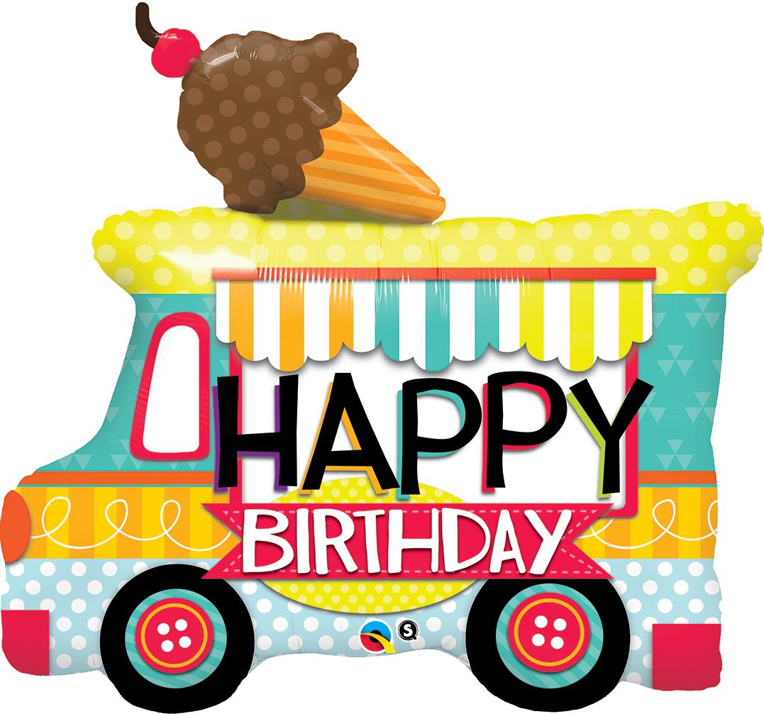 Icecream clipart happy. Birthday ice cream truck