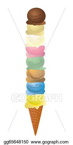 icecream clipart many