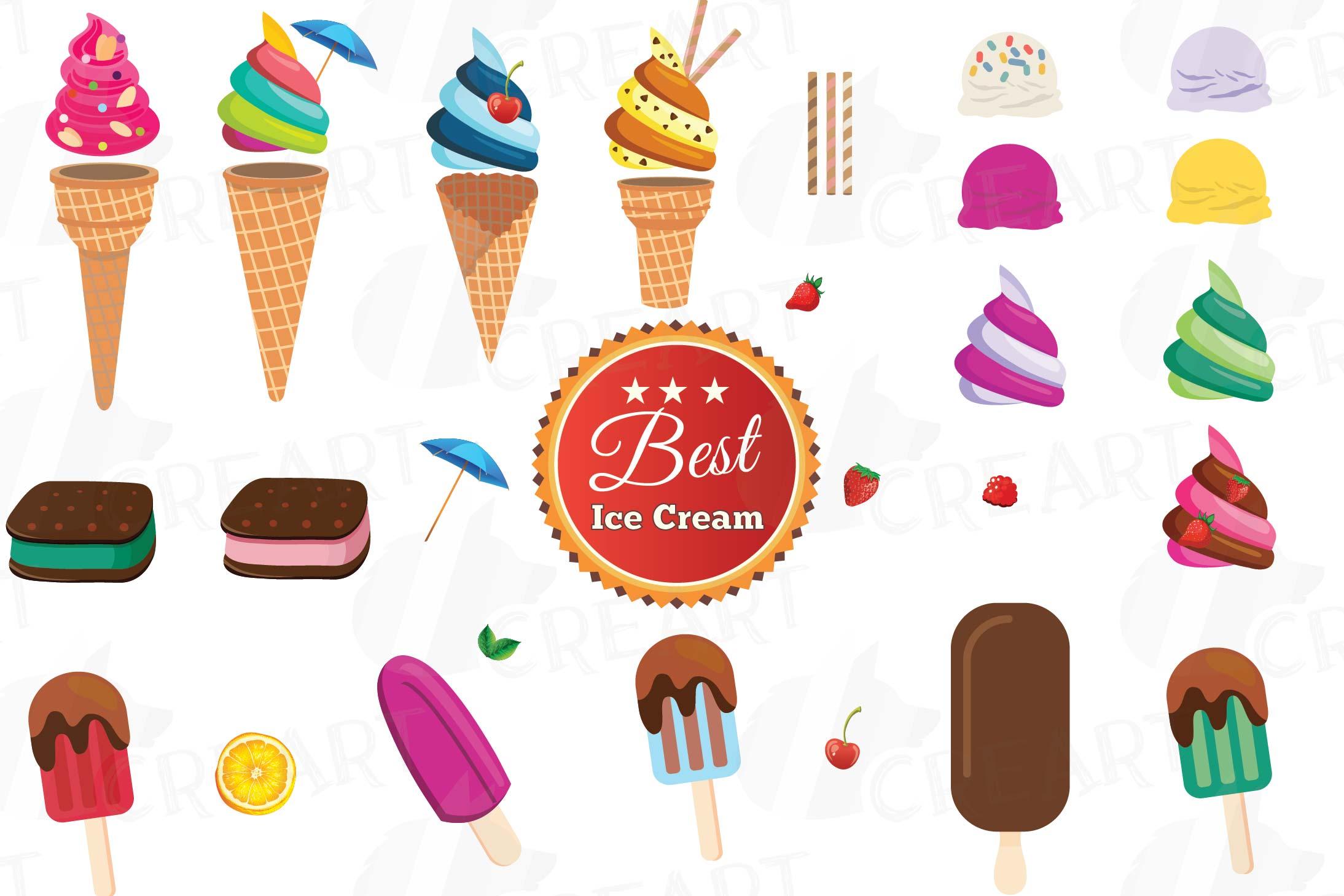 Party clipart icecream. Ice cream collection delicious