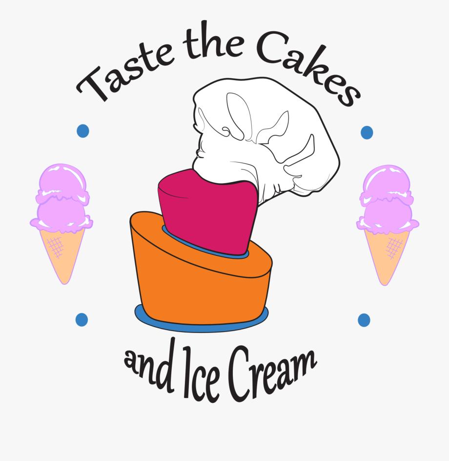 The cake and ice. Icecream clipart sweet taste