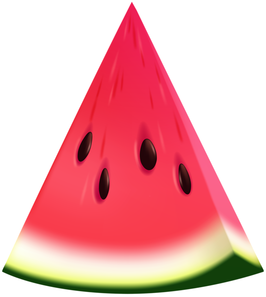 Icecream clipart triangle watermelon. Clip art transprent png