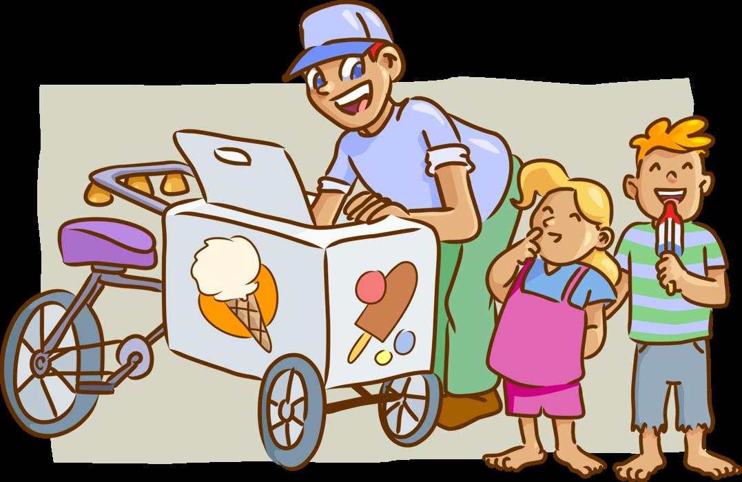 Gelato ice cream sells. Icecream clipart vendor