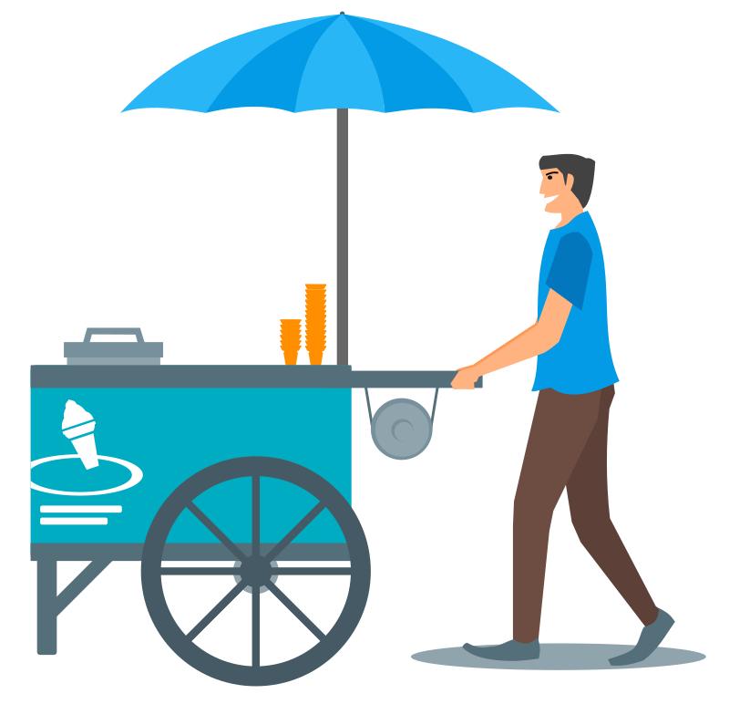 Icecream clipart vendor.  collection of ice