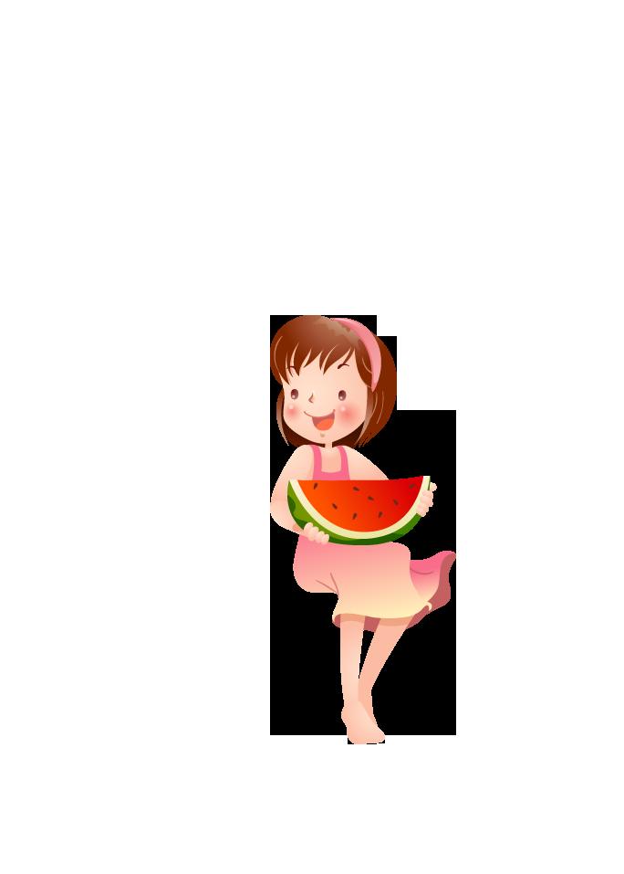 Cartoon clip art little. Skin clipart watermelon