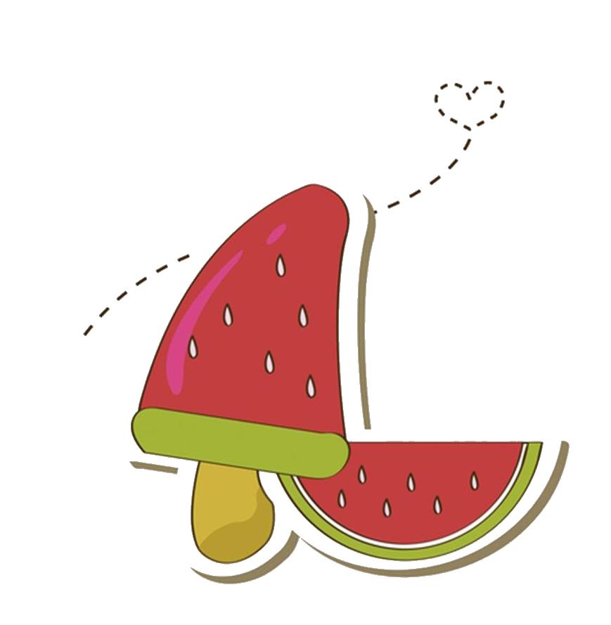 Ice cream. Watermelon clipart pop art
