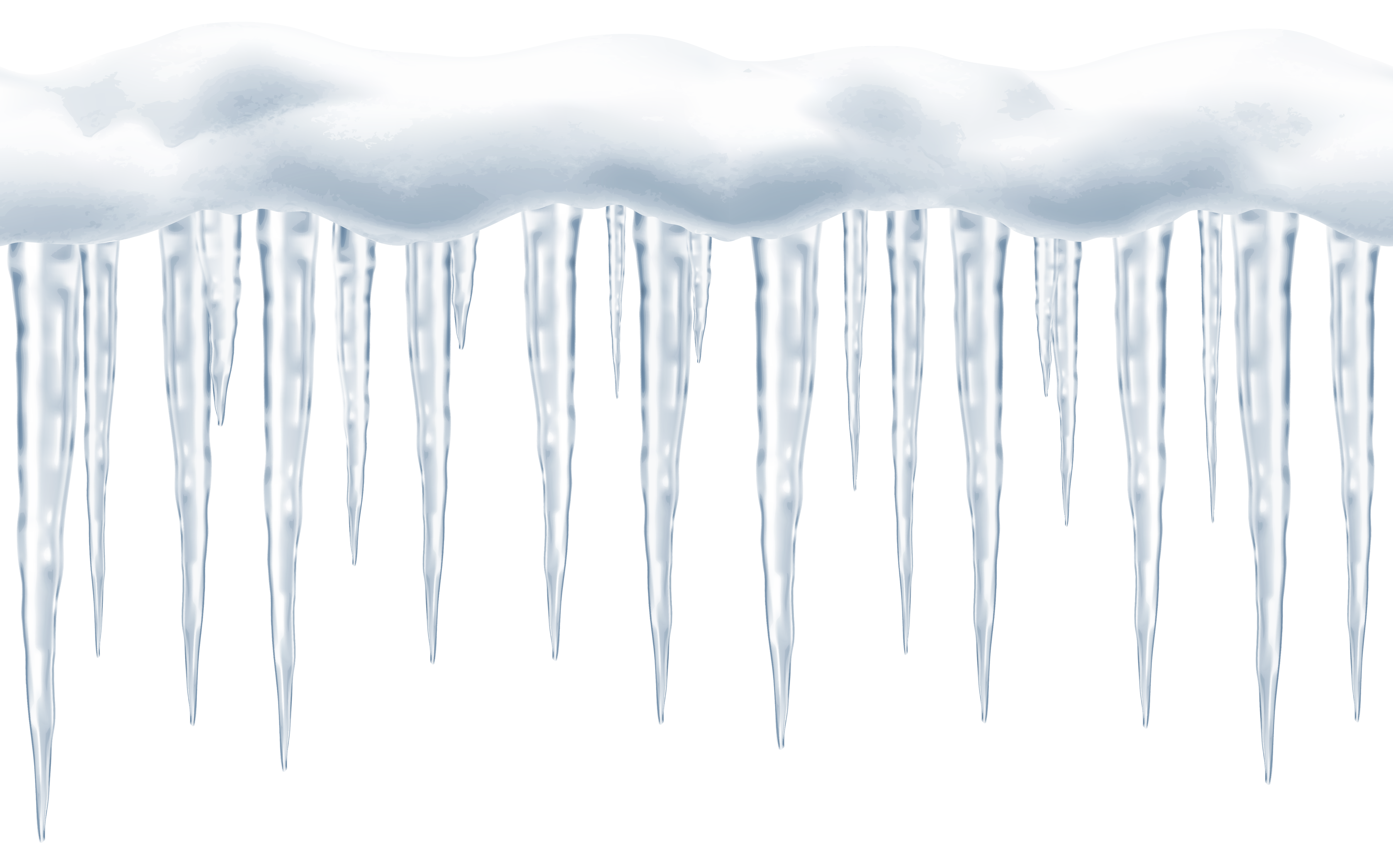 Icicle clipart. Large icicles transparent png