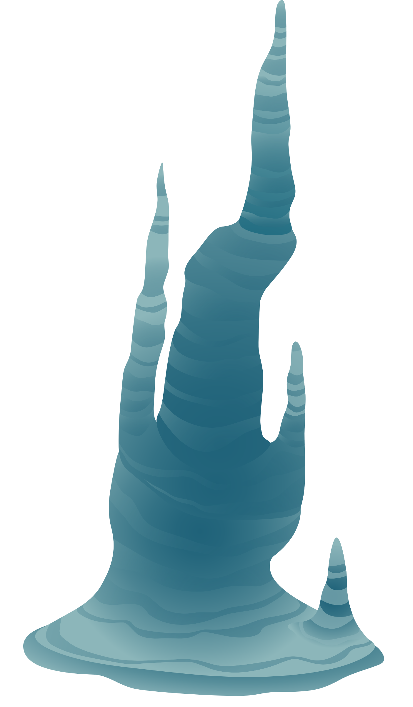 Ilmenskie cave big image. Icicle clipart blue