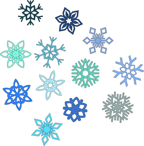 Snowflakes clip art at. Icicles clipart blue snowflake
