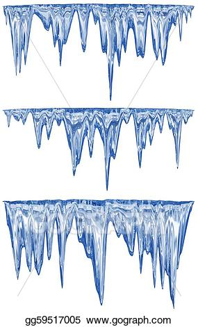 Icicle clipart drawing. Stock illustration thawing icicles