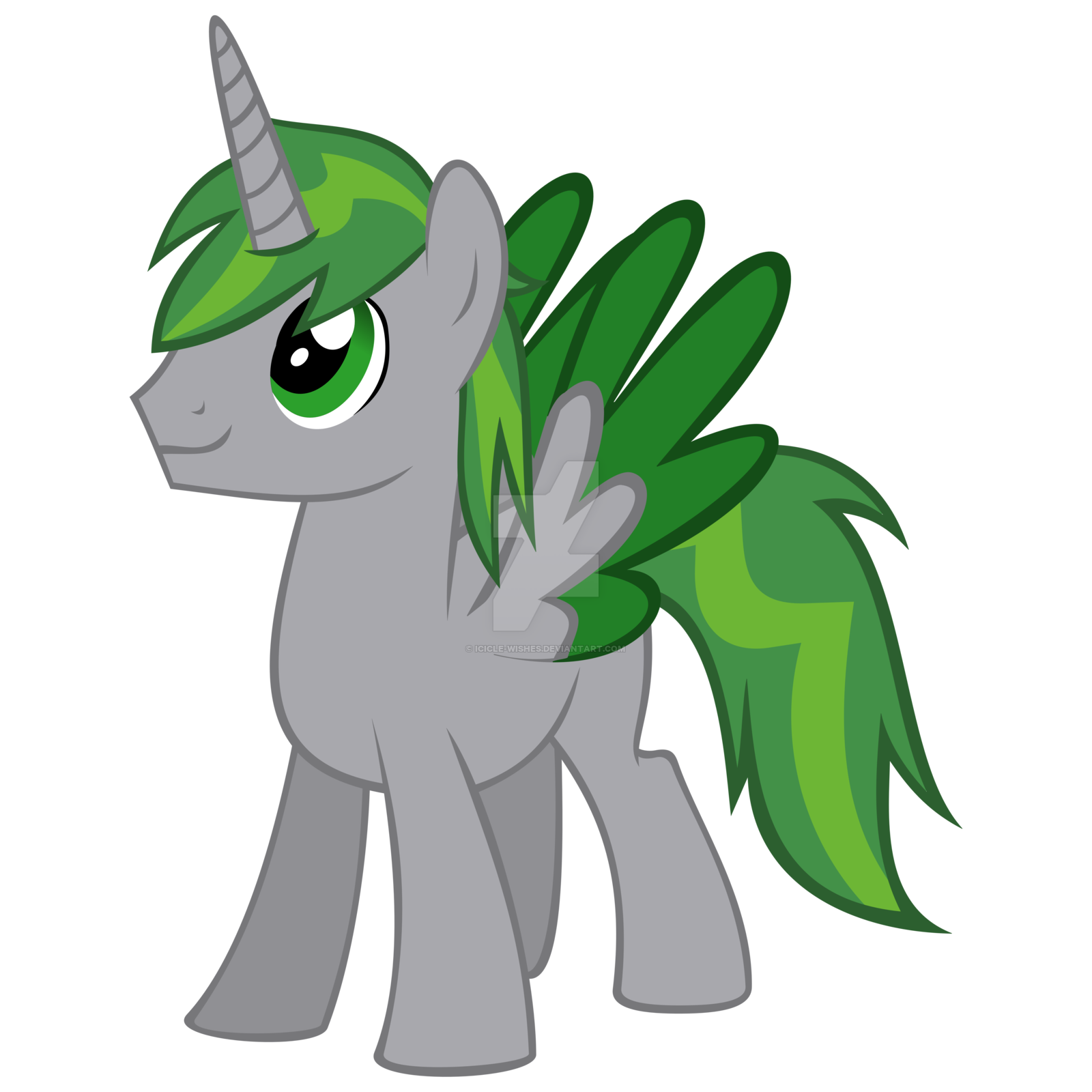 Icicle clipart drawing. Emerald alicorn style by