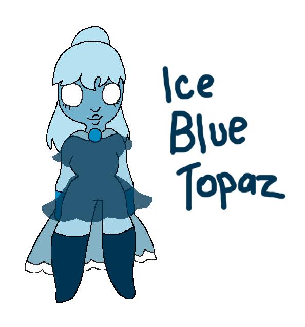 Icicles clipart ice crystal. Blue topaz gem oc