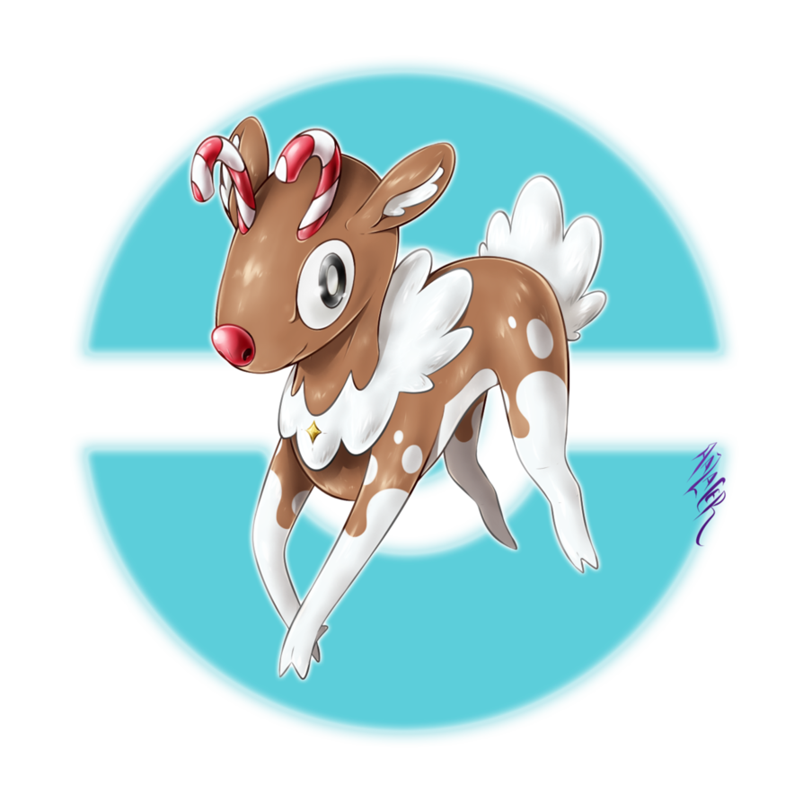 Crisdeyr the snowdeer fakemon. Icicles clipart icy wind
