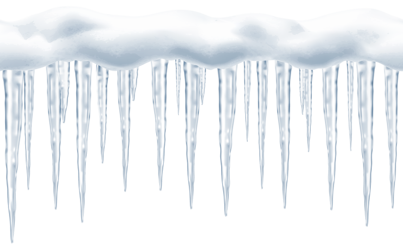 Images in winter page. Icicles clipart frost