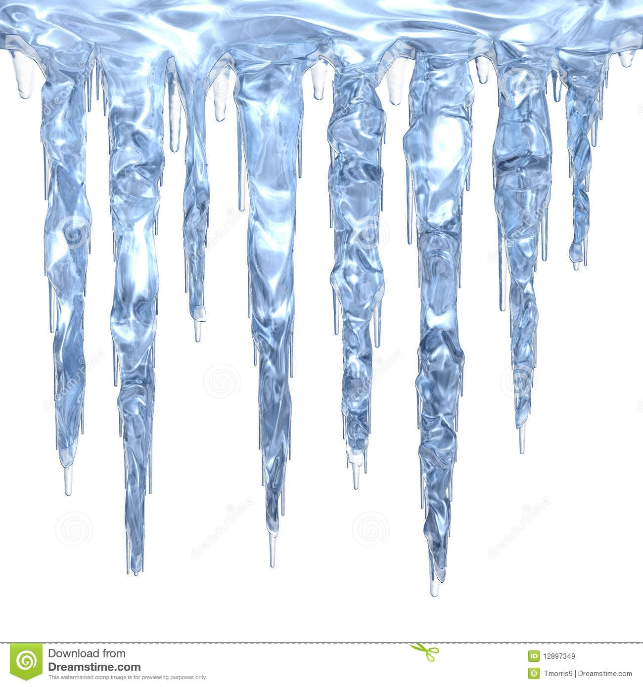 New collection digital coloring. Icicles clipart