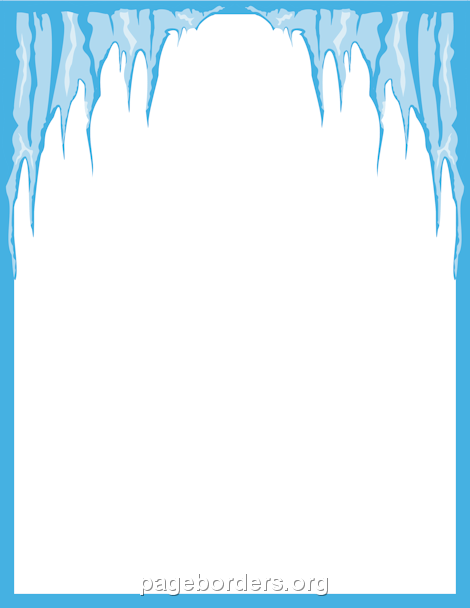 Icicles clipart boarder. Icicle border clip art