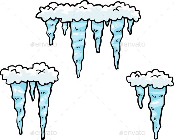 Icicles clipart drawing. Doodle set of bullet