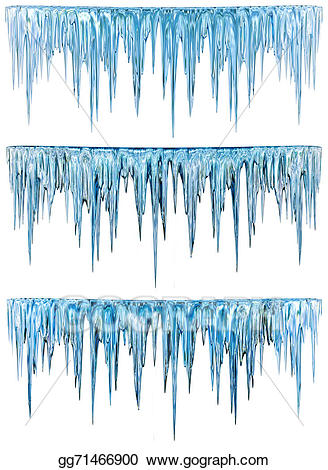 Icicles clipart frosty weather. Stock illustration gg gograph