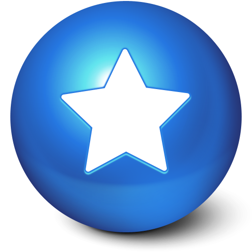 Icon png images. Blue star ball favorites