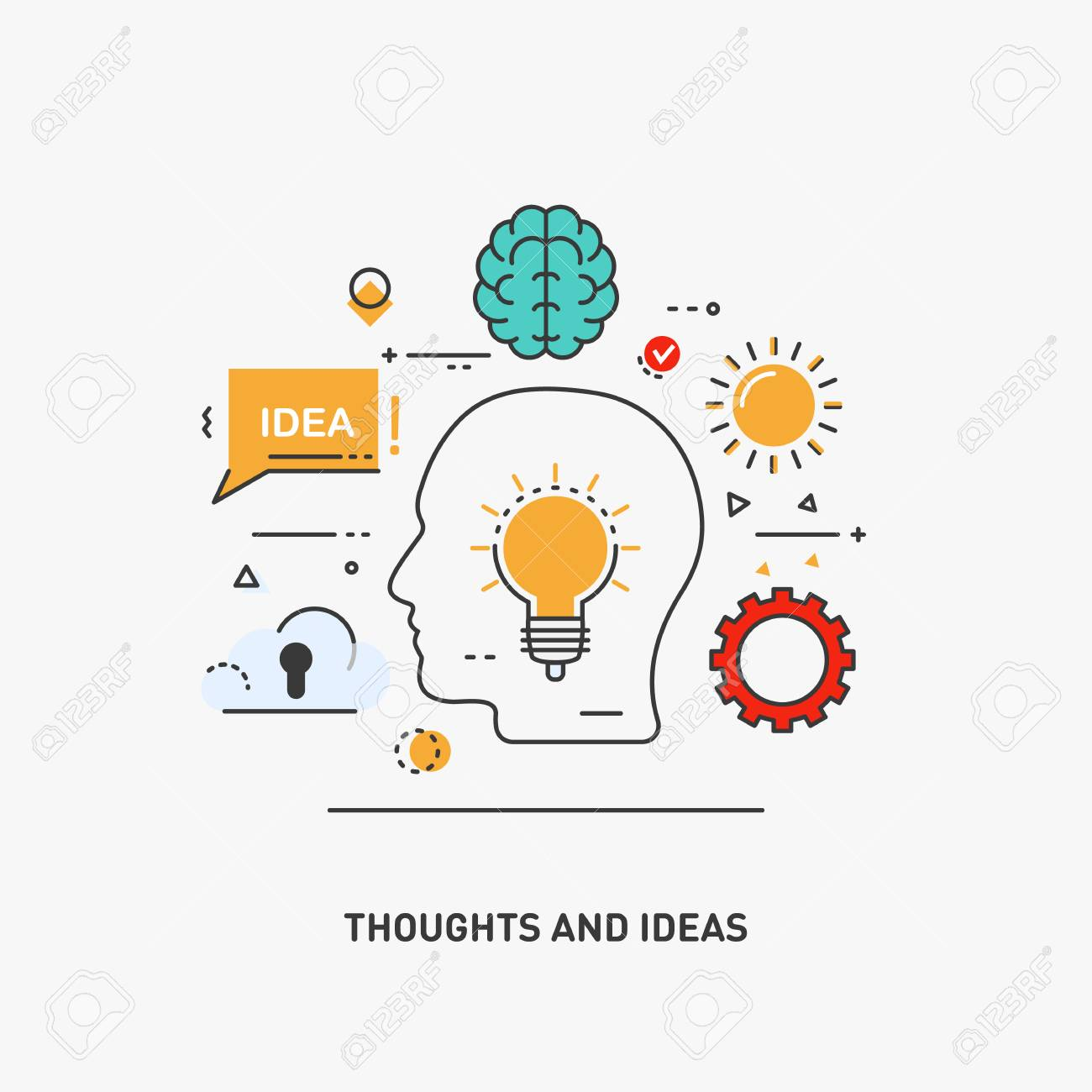 Free idea download clip. Thoughts clipart final thought