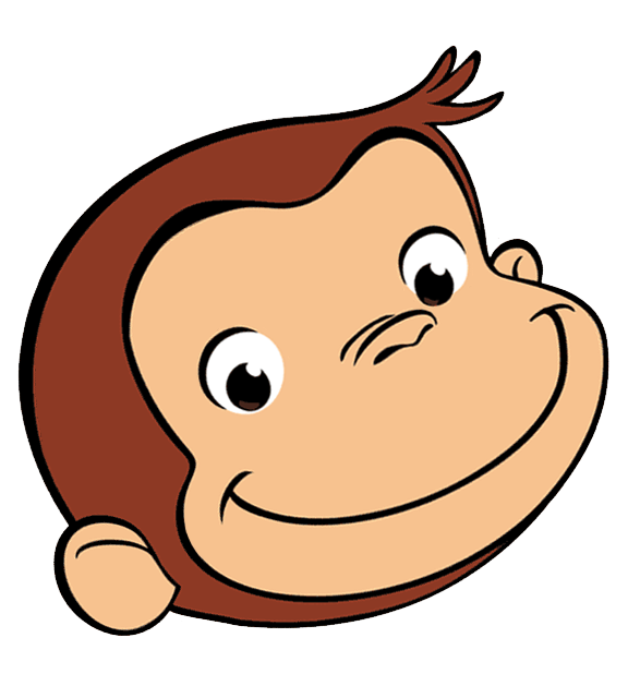 Curious george image nd. Waffle clipart face