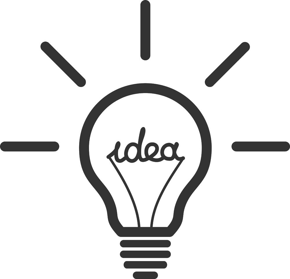 Thoughts clipart lighbulb. Incandescent light bulb idea