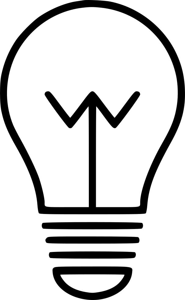 Bulb creative energy lamp. Idea clipart night light