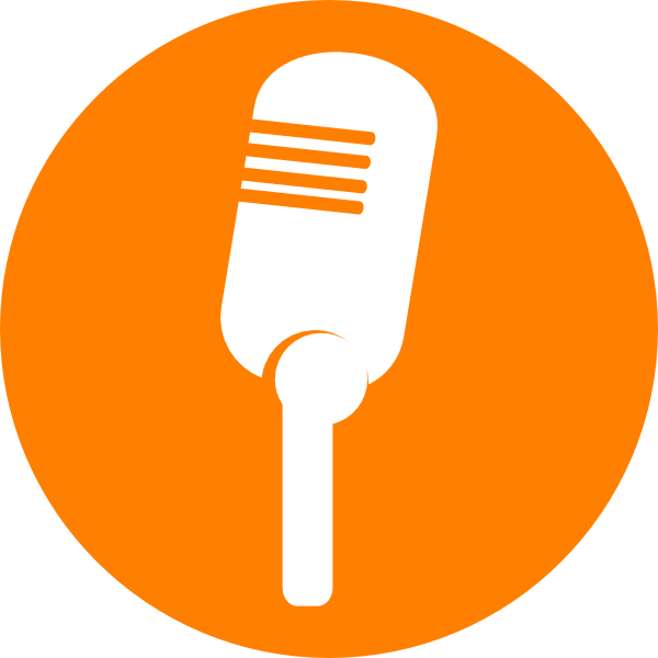 Microphone clipart abstract. Orange free on dumielauxepices