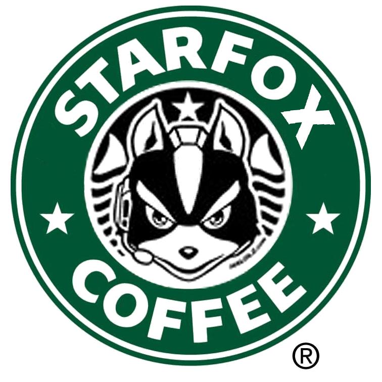 Starfox coffee parody mug. Starbucks clipart logo starbucks