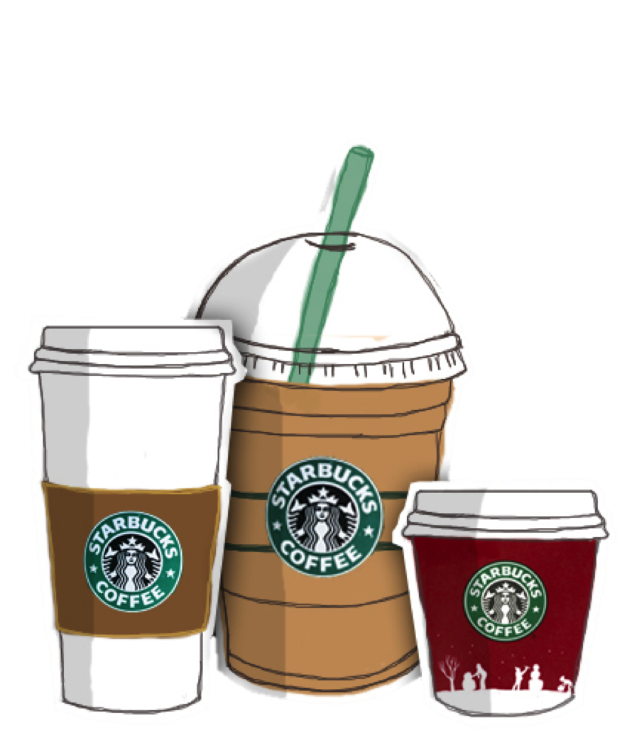 To arrive in italy. Starbucks clipart tumbler