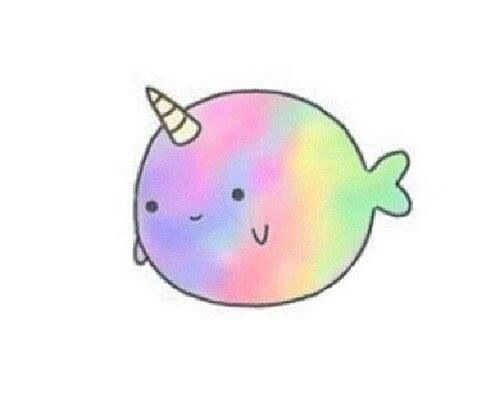 Cute unicorn clipartfest . Narwhal clipart animal tumblr