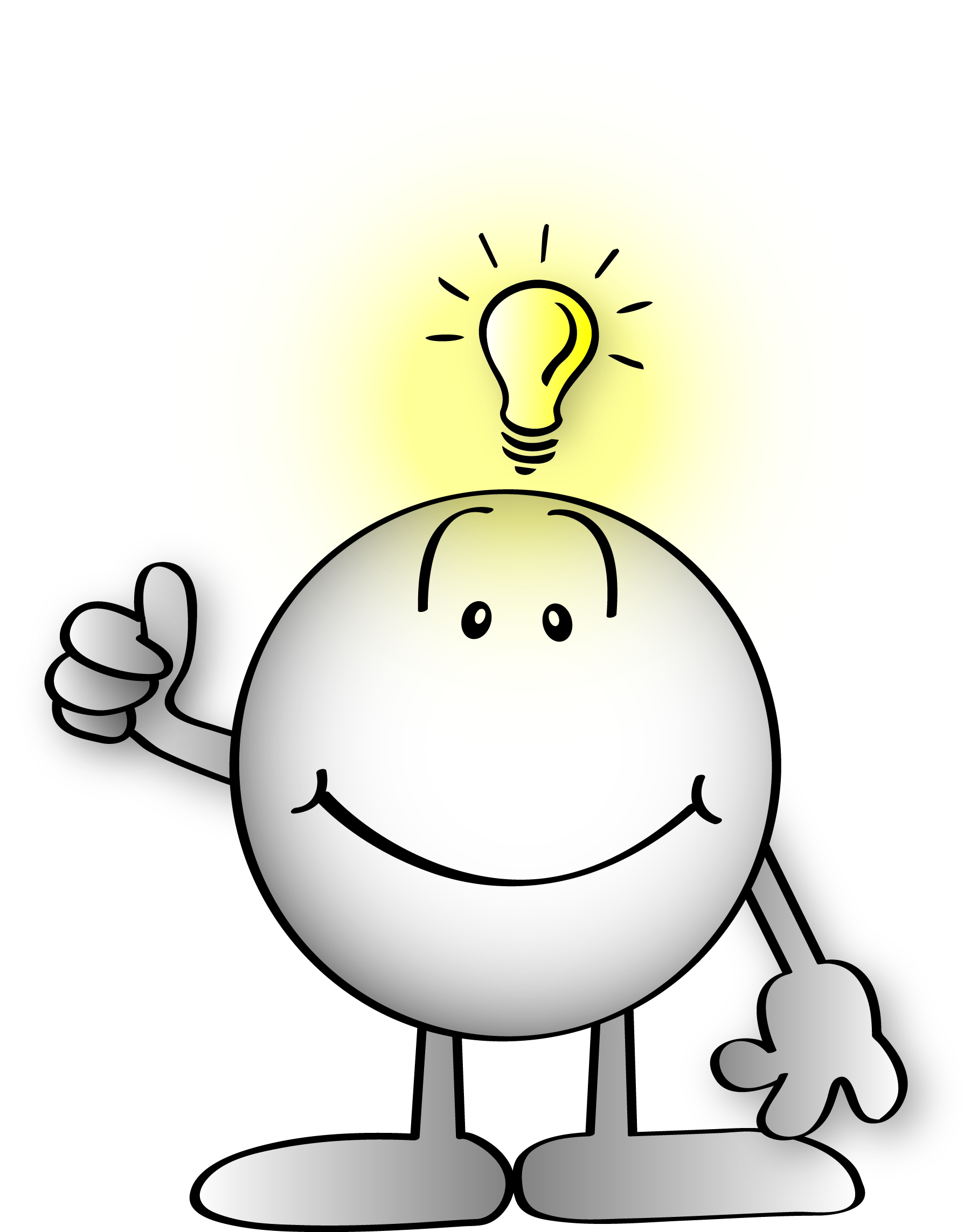Free bright cliparts download. Idea clipart understanding person
