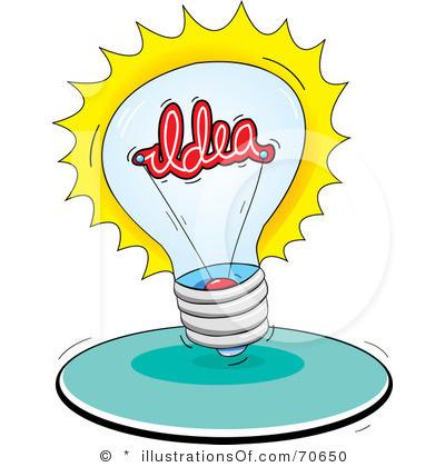 Idea clipart. Light bulb clip art