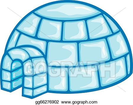 Igloo clipart. Eps illustration of a